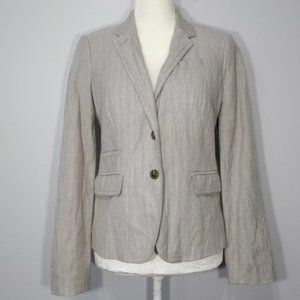 J. Crew Schoolboy Tan 2-Button Lined Career Blazer